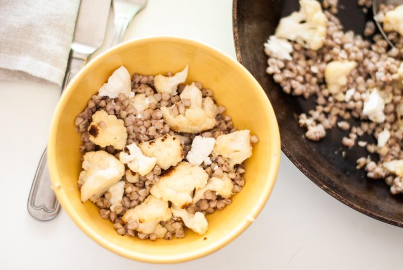 coliflor y trigo sarraceno