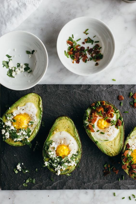 advocado egg bake