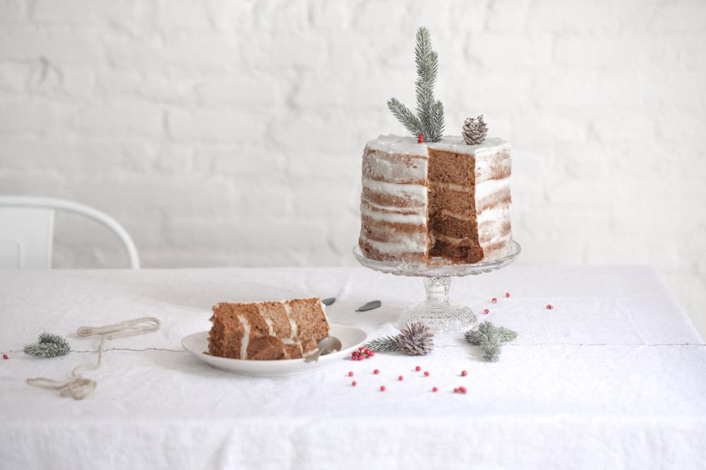 pastel de Navidad, pastel rustico
