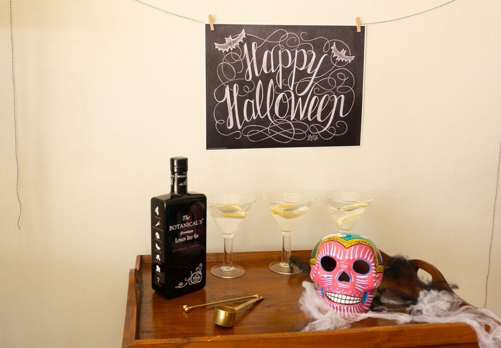 Happy halloween bar corner