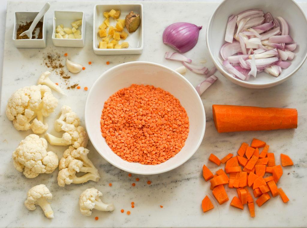 Ingredientes para crema de legumbre