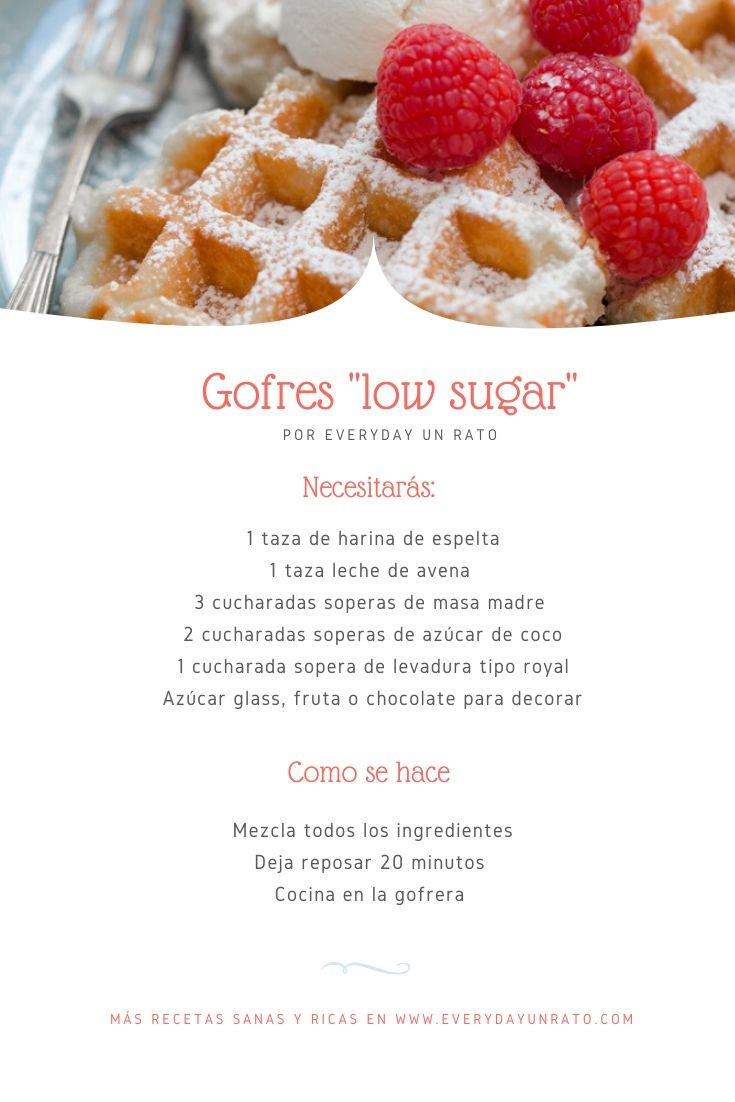 Receta de gofers low sugar