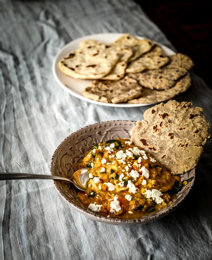 Curry de garbanzos casero